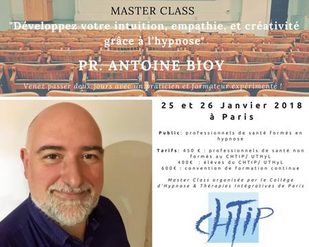 https://www.hypnose-ericksonienne.org/agenda/MASTER-CLASS-Pr-Antoine-BIOY-JANVIER-2018-Developpez-votre-intuition-empathie-et-creativite-grace-a-l-hypnose_ae556714.html