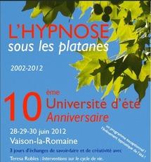 10ème Université d'été 2012, Hypnose et Thérapies Brèves Vaison-la-Romaine.