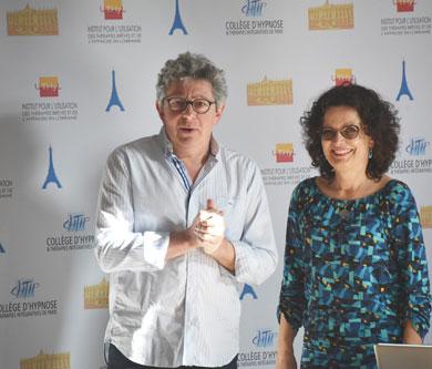 Laurent Gross et Dr Catherine Wolff, Formation Hypnose et Douleur au CHTIP