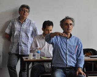 Dr Julien BETBEZE, Dr Philippe AÏM et Laurent GROSS au cours d'une formation au CHTIP Collège Hypnose & Thérapies Intégratives de Paris