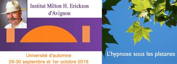 Université d'Automne 2016 - L'hypnose pour protéger, cicatriser, inventer