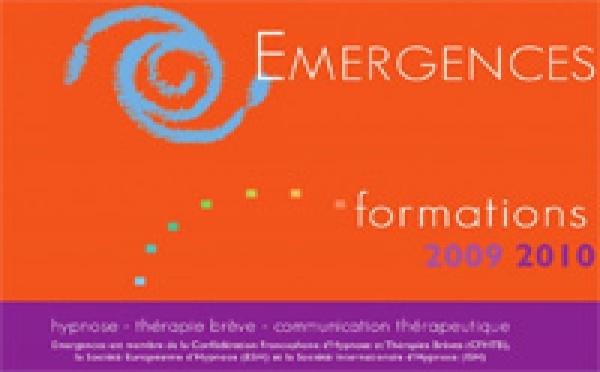Formation Hypnose, Formations Institut Emergences Rennes, Catalogue Formations 2009- 2010 Hypnose Ericksonienne et Thérapie Brève
