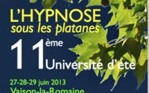 Hypnose sous les platanes : 11 ème université d'été 27-28-29 juin 2013