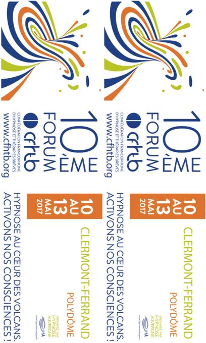 Forum 2017 Hypnose & Thérapies Brèves Clermont-Ferrand